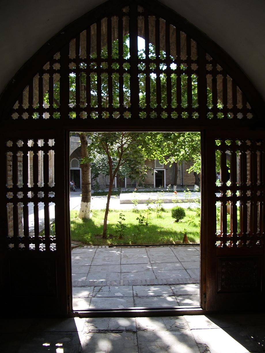 Uzbek madrassa courtyard