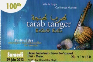 TALIM Tarab Tanger ticket