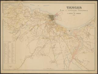TALIM Tangier Map 1924 s