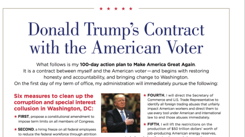 Trump 100 day contract