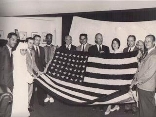 TALIM American flag rug horiz