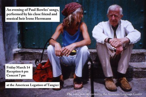 TALIM Paul Bowles Irene Herrman Postcard Invitation