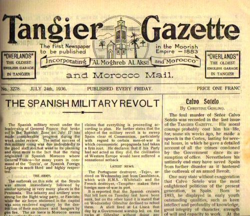 TALIM Tangier Gazette Spanish Civil War formatted