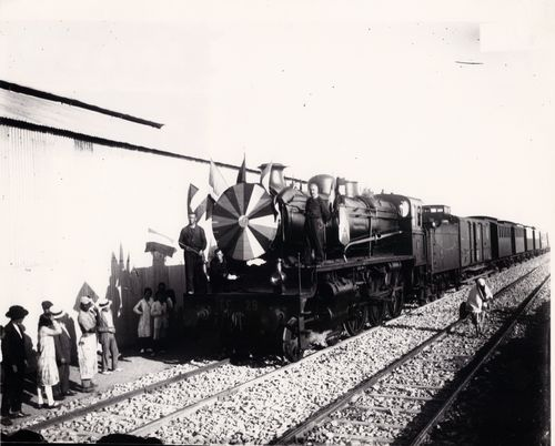TALIM First train in Tangier 1920s Angus collection